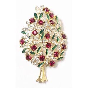 Pear tree rhinestone brooch by Sphinx of England